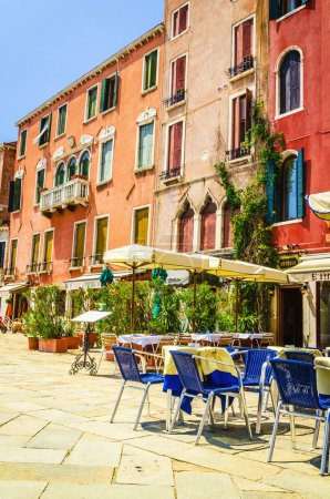 Restaurant on the squares in Venice
