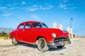 Classic American red car