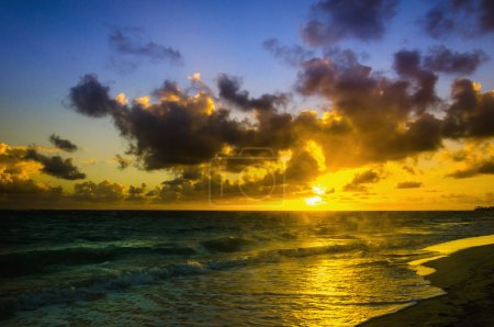 sunrise on Caribbean Sea