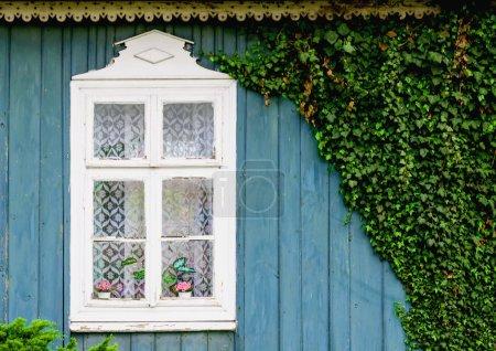 Old blue wooden cottage