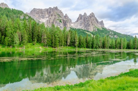 Lake Misurina in Sexten Dolomites, Italy