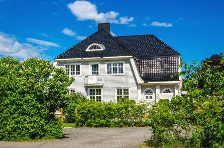 Typical Norwegian wooden house Norway