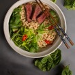 A bowl of Chinese ramen noodles with beef, Chinese...