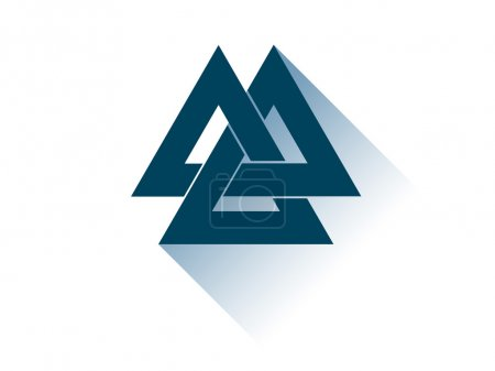 Valknut is a symbol of the world's end of the tree...