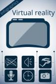 Virtual reality glasses Vector promotion infographic