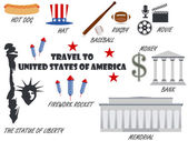 Welcome to USA Symbols United States Set of icons Vector