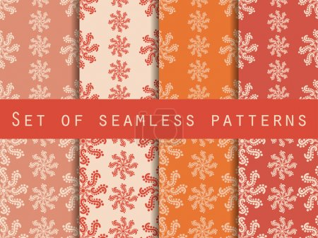Set seamless patterns. Pastel shades. The pattern for wallpaper, bed linen, tiles, fabrics, backgrounds. Vector illustration.