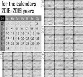 Kalendář pro rok 2016-2019