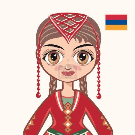 The girl in Armenian dress. Historical clothes. Armenia. Portrait. Avatar.