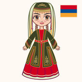 The girl in Armenian dress. Historical clothes. Armenia