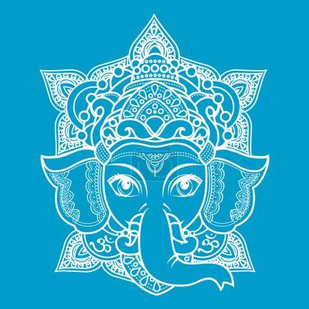 Hindu elephant head God Lord Ganesh.