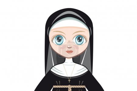 Doll in a monastic dress. Portrait, avatar