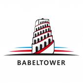 Tower of Babel logo Vector illustration