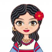 The girl in Gypsy dress Historical clothes  Portrait avatar