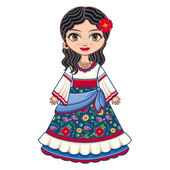 The girl in Gypsy dress Historical clothes