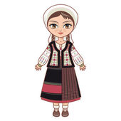 The girl in Moldavian dress  Historical clothes