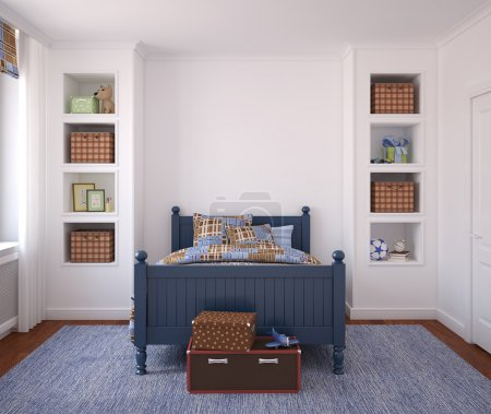 Photo for Interior of boy's room. 3d render. - Royalty Free Image