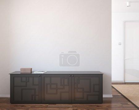 Photo pour Intérieur moderne de couloir. rendu 3D. - image libre de droit