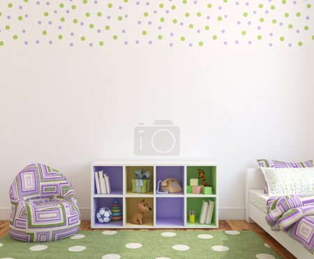 Interior of playroom for girl.
