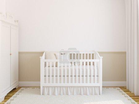 Interior of cozy nursery