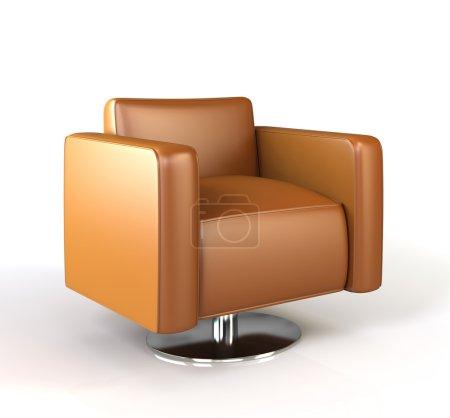 Modern armchair isolated