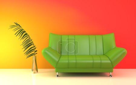 moderne grüne Couch.