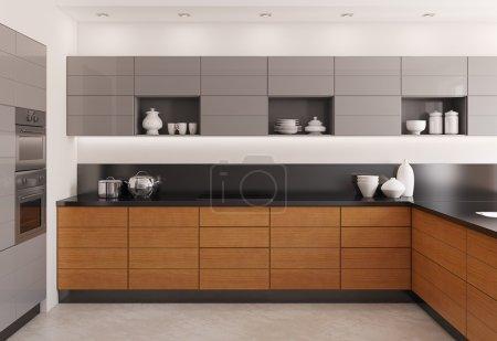 Moderne Kücheneinrichtung.