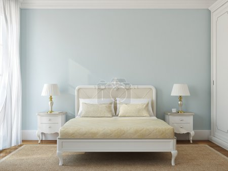 Photo for Classical bedroom interior. 3d render. - Royalty Free Image