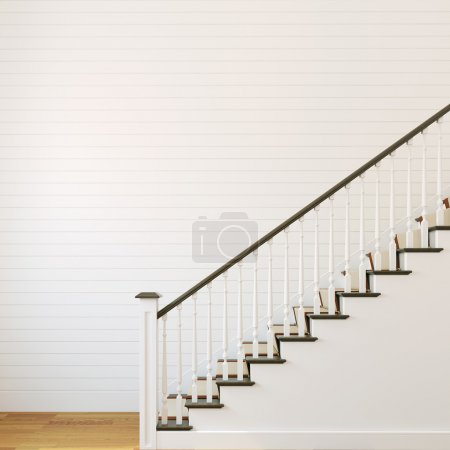 Photo for White classic stairway. 3d render. - Royalty Free Image