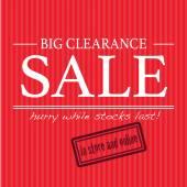 Big clearance sale sign