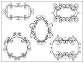 Set of decorative vintage swirl frames Design elements