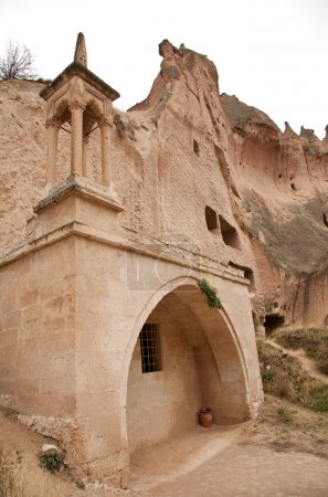 Cave Mosque Famous city  Cappadocia in Turkey
