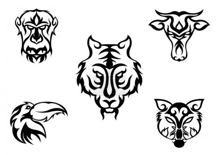 Animal head design