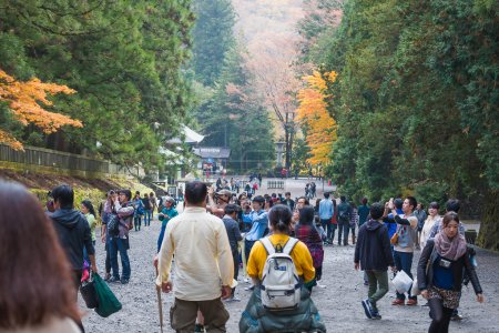 NIKKO, JAPAN - NOV 4: People visit Tosho-gu Shrine on Nov 4, 201