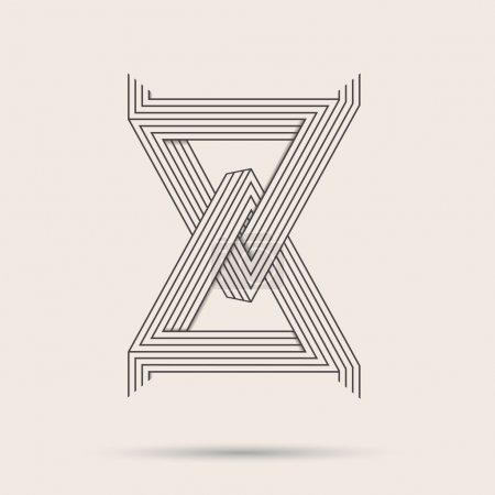 Illustration for Abstract vector logo.Triangle line art logo made in black and white.Minimalistic logo. - Royalty Free Image