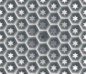 Seamless abstract honeycomb  background - hexagons Each cell hole in a six-pointed star Background with gradient fill
