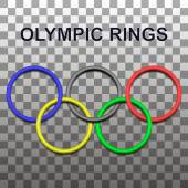 Design element 3D - the olympic rings with shadows
