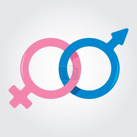 Photo pour Les symboles du masculin et du féminin, les signes des planètes Vénus et Mars . - image libre de droit