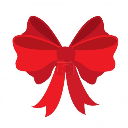 Red ribbon for gifts, greeting cards and postcards.