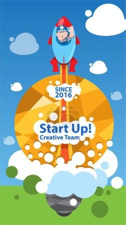 Start up business concept design, creative team