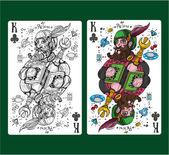 """Постер, картина, фотообои """"Король клубов карточные масти."""""""