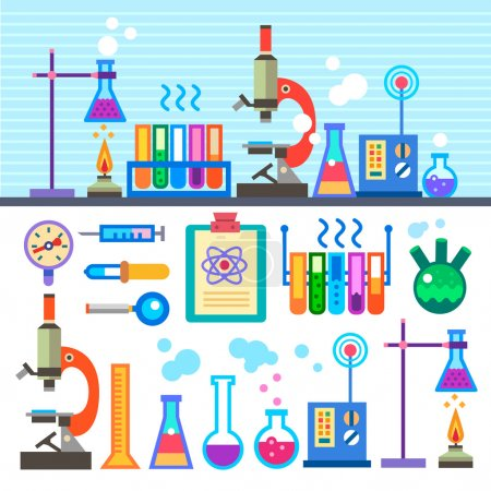 Chemical Laboratory in flat style Chemical Laboratory