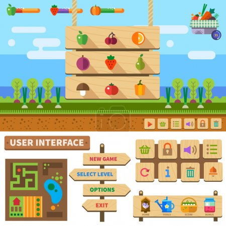 Farm in the village game