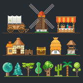 Old village Different objects sprites