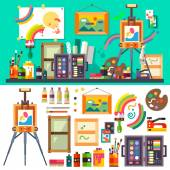 Art studio tools for creativity and design