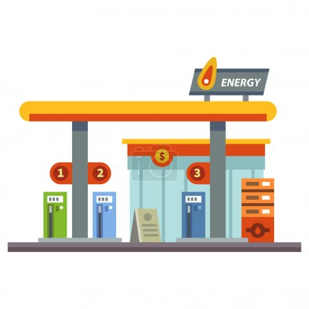 Gas station. Energy