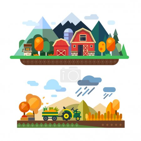 Farm life, countryside landscapes