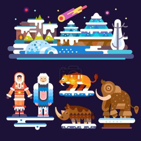 Prehistoric set. Ice Age.