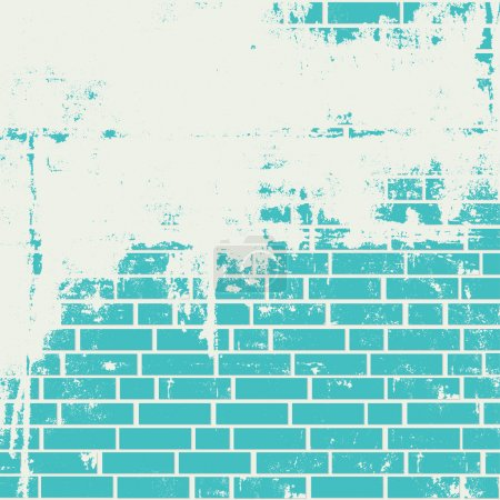 Plastered brick wall.