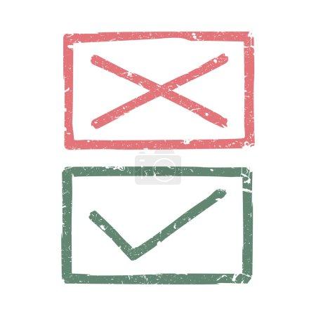 Illustration pour Marques de contrôle - image libre de droit